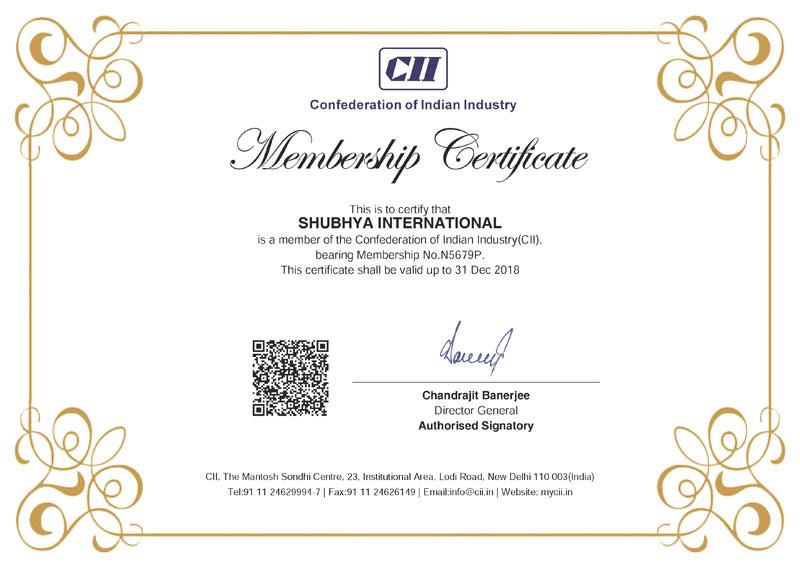 CII Membership Certificate